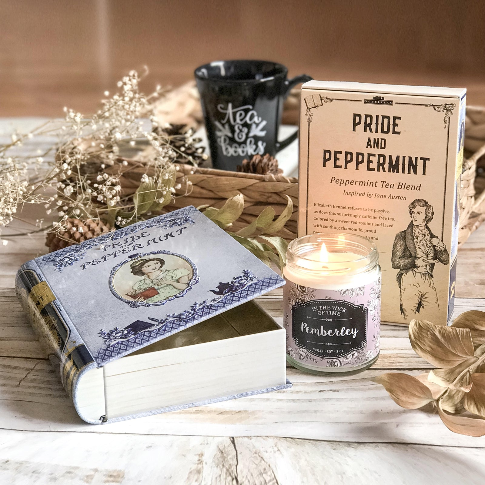 Pride and Peppermint Tea Book Tin Austen Gift
