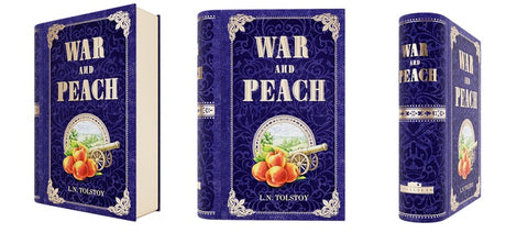 War and Peace by Tolstoy Tea Tin Book Novelty Gift