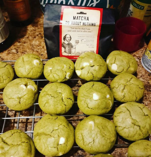 Matcha Muffins with novelteas shakespeare tea
