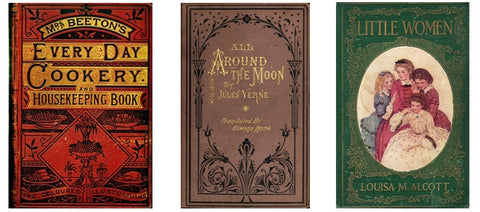 Beautifual and classic hard cover book designs help inspire NovelTeas Tea Tin Books