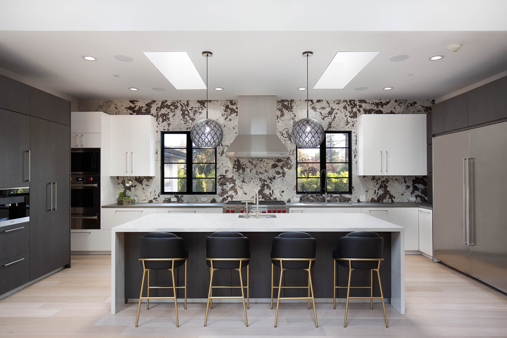 dounia home aria light in a kitchen marble