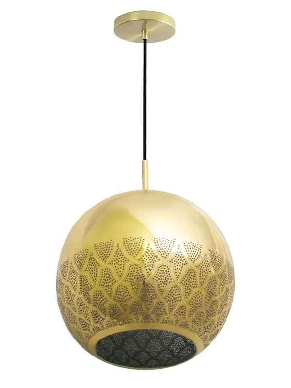 nur pendant light by dounia home in brass