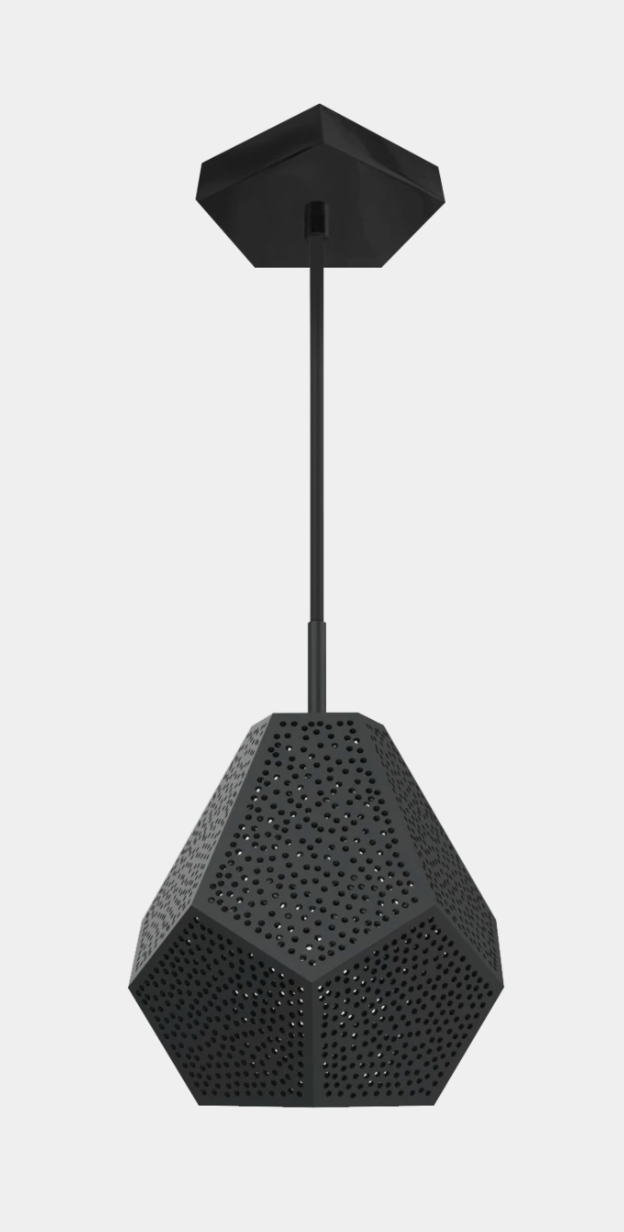 "Almas Pendant Light Gunmetal 9""x11""- SAMPLE"