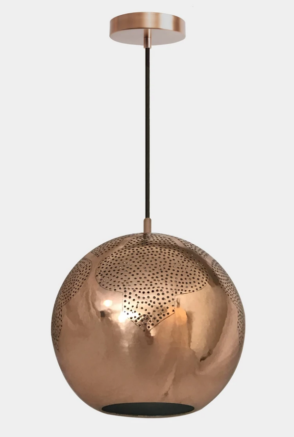 "Najma Copper Pendant Light 12"" x 11"" - Sample"