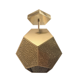 dounia home ula semi-flush light brass