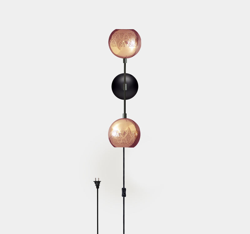 Nur Reversed Wall Sconce - Dual Globe
