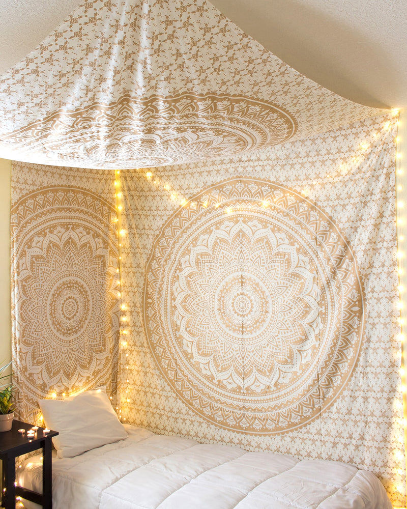 Gold Glimmer Tapestry The Bohemian Shop