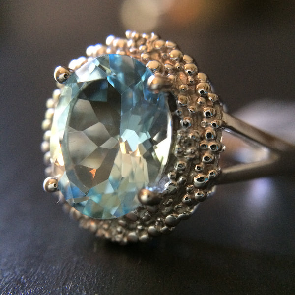 Blue Topaz Ring - Size 7 - LittleGemsUSA - 2
