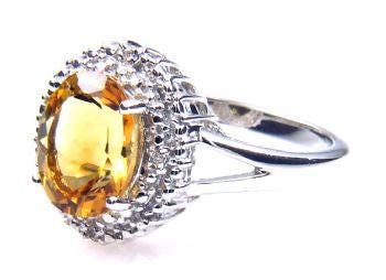 Sterling Silver Citrine Ring - Size 7 - LittleGemsUSA - 4