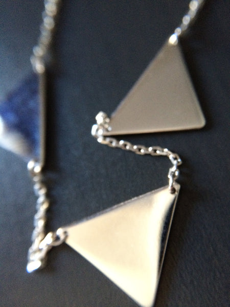 Triangle Connection Necklace - LittleGemsUSA - 3