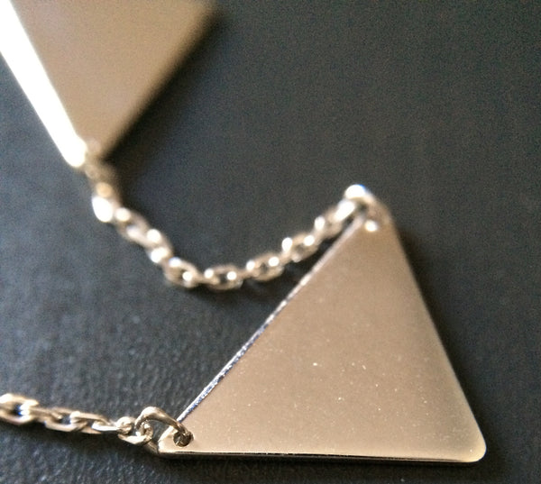 Triangle Connection Necklace - LittleGemsUSA - 1