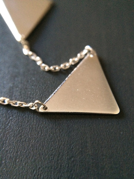 Triangle Connection Necklace - LittleGemsUSA - 2