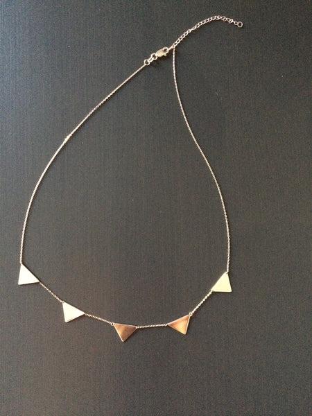 Triangle Connection Necklace - LittleGemsUSA - 4