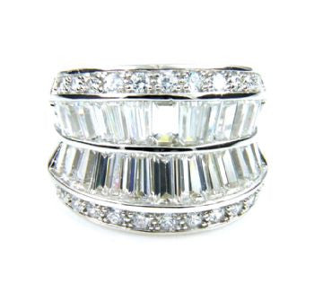 CZ Sterling Silver Fashion Ring - Size 6 - LittleGemsUSA - 2