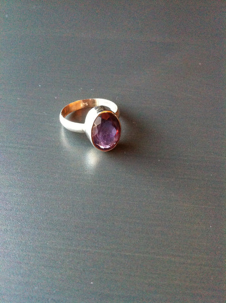 Large Oval Amethyst Ring - Size 10 - LittleGemsUSA - 3