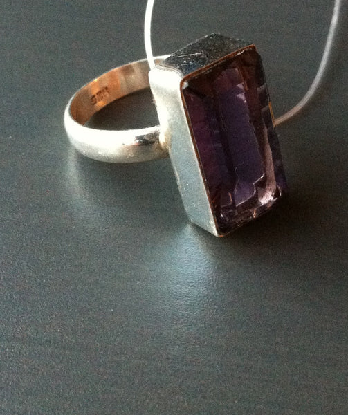 Large Amethyst Ring - LittleGemsUSA - 2