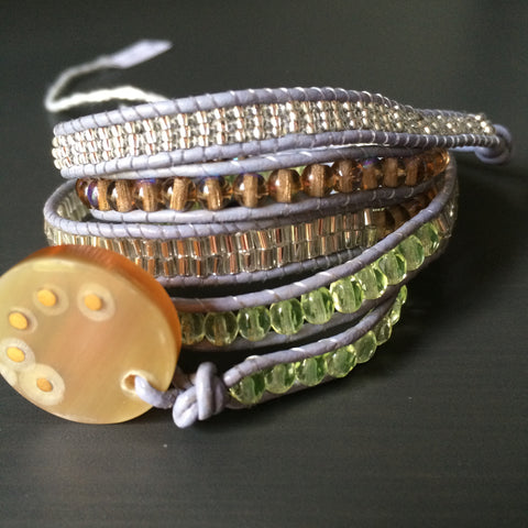 Leather Wrap Bracelet - Transitions - LittleGemsUSA - 2