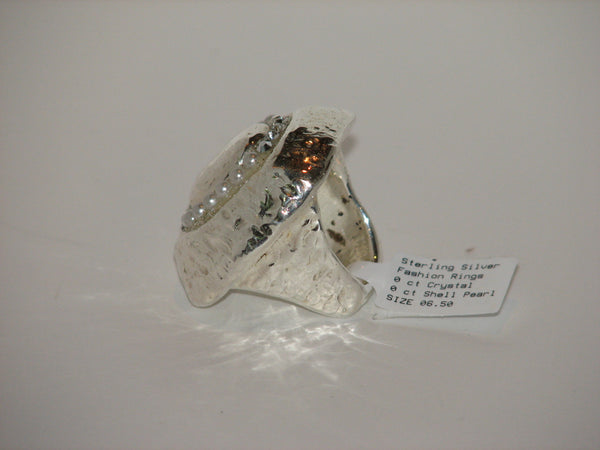 Sterling Silver Statement Ring by Orit Schatzman - Size 6.5 - LittleGemsUSA - 3