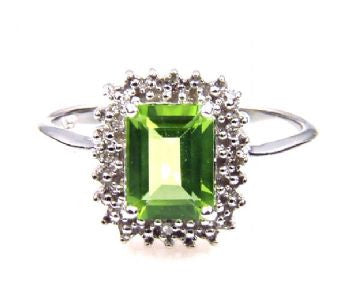 Peridot 1.65 ct Stone Ring - Size 7 - LittleGemsUSA - 3