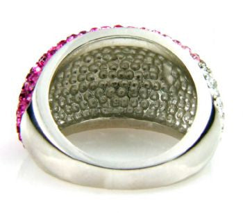 Pink Crystal Ombre Ring - Size 7 - LittleGemsUSA - 4