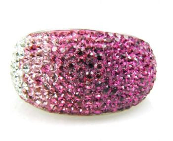 Pink Crystal Ombre Ring - Size 7 - LittleGemsUSA - 2