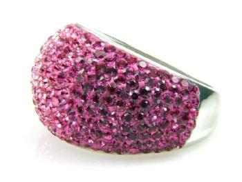 Pink Crystal Ombre Ring - Size 7 - LittleGemsUSA - 3