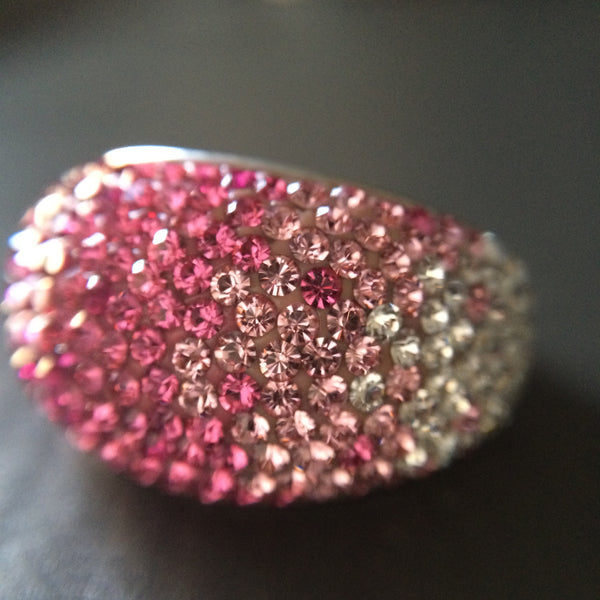 Pink Crystal Ombre Ring - Size 7 - LittleGemsUSA - 1