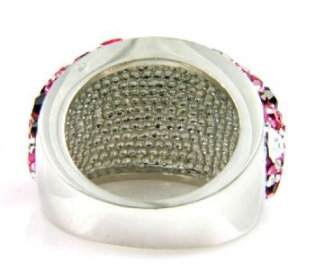 Multi Pink Crystal Ring - Size 9 - LittleGemsUSA - 4