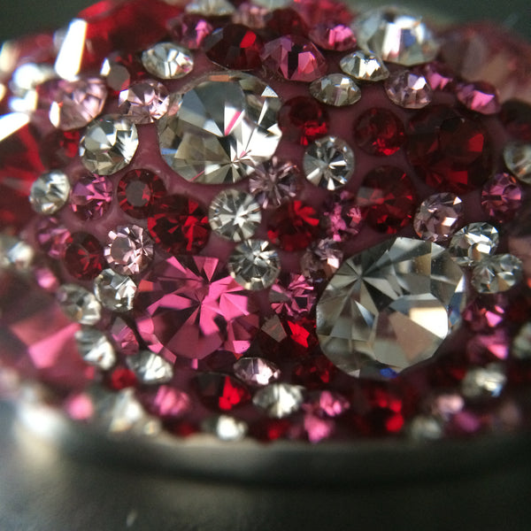 Multi Pink Crystal Ring - Size 9 - LittleGemsUSA - 1