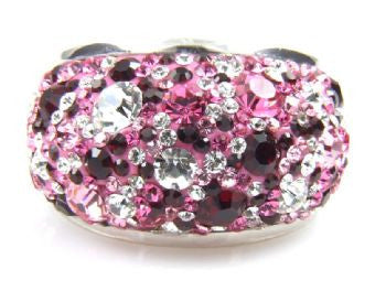 Multi Pink Crystal Ring - Size 9 - LittleGemsUSA - 2