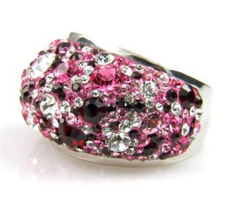 Multi Pink Crystal Ring - Size 9 - LittleGemsUSA - 3