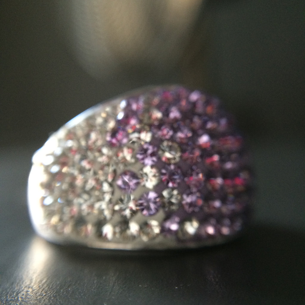Purple Crystal Ombre Ring - Size 6 - LittleGemsUSA - 1