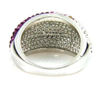 Purple Crystal Ombre Ring - Size 8 - LittleGemsUSA - 5