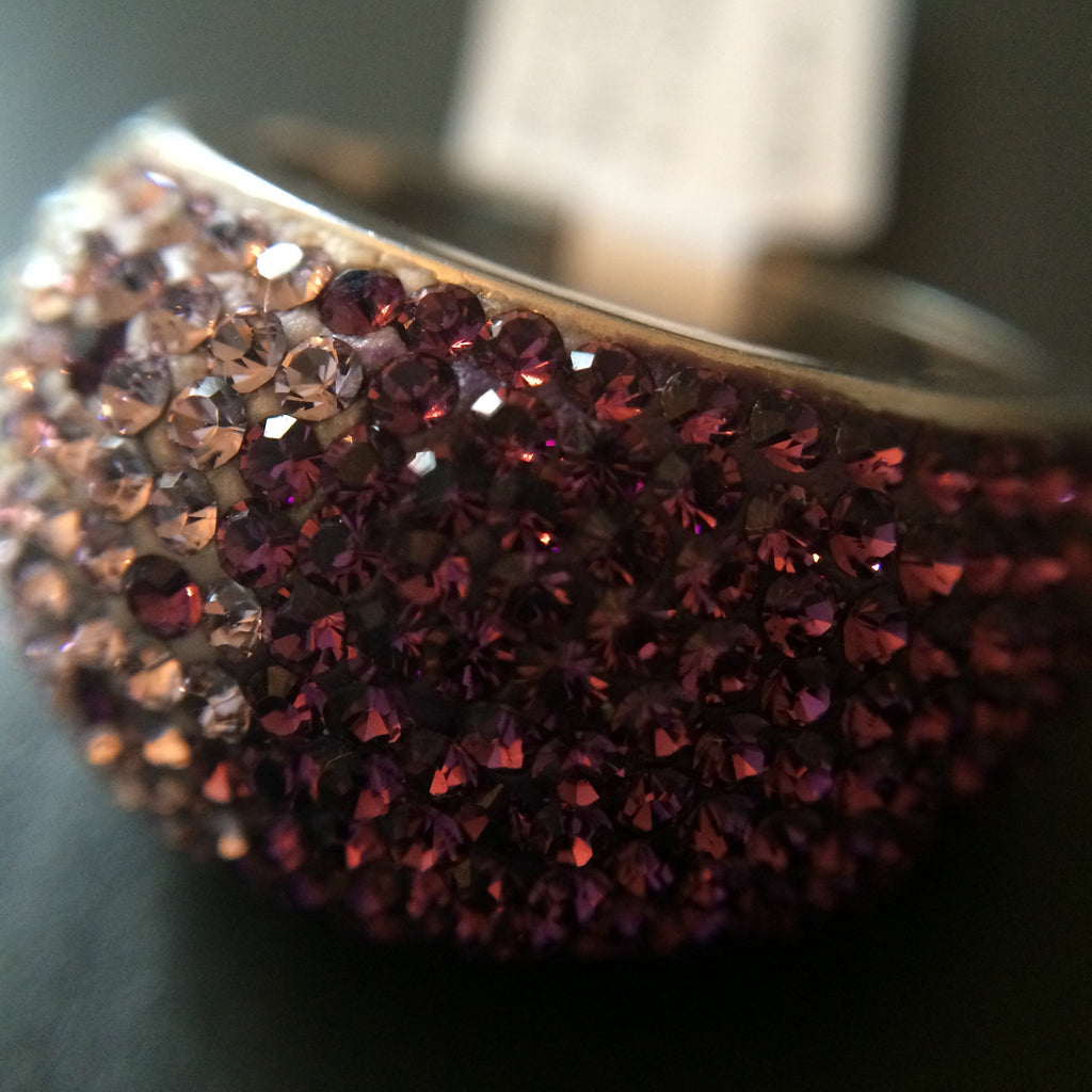 Purple Crystal Ombre Ring - Size 8 - LittleGemsUSA - 1