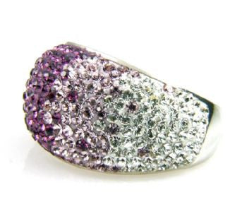 Purple Crystal Ombre Ring - Size 8 - LittleGemsUSA - 4