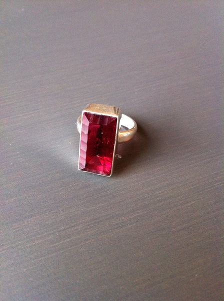 Ruby Red Garnet Ring - Size 6 - LittleGemsUSA - 2