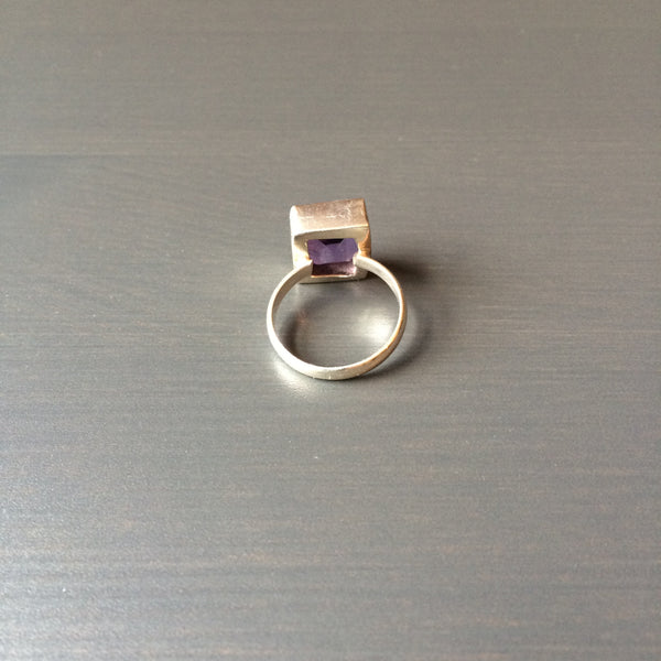 Square Amethyst Ring - Size 6.5 - LittleGemsUSA - 3