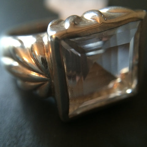 Sterling Silver Quartz Ring - Size 7 - LittleGemsUSA - 1