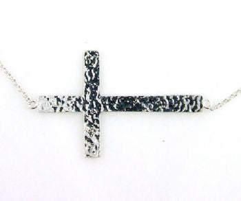 "Sterling Silver Cross Necklace - 18"" - LittleGemsUSA - 3"