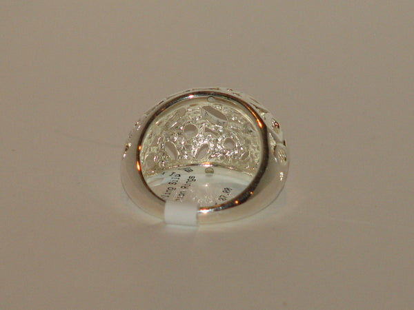 Sterling Silver Dome Circle Ring - Size 7 - LittleGemsUSA - 6