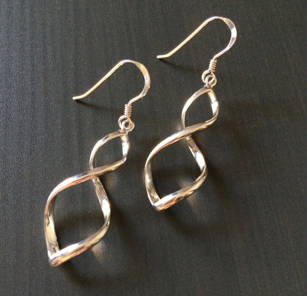 Silver Twist Earrings - LittleGemsUSA - 1