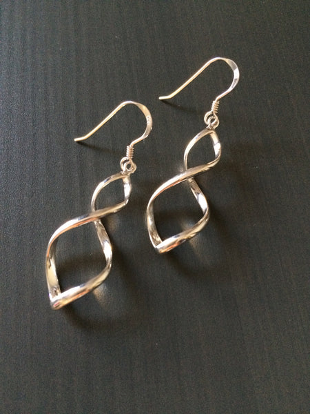 Silver Twist Earrings - LittleGemsUSA - 2
