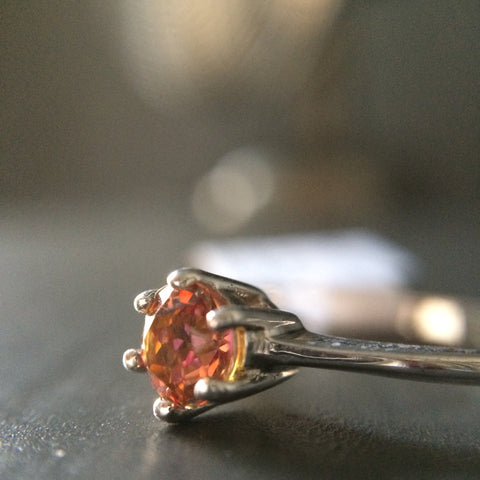 Tiny Topaz Solitaire Ring - Size 6 - LittleGemsUSA - 1