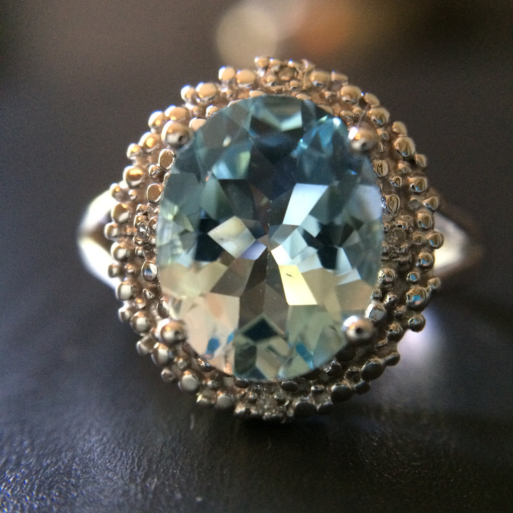 Blue Topaz Ring - Size 7 - LittleGemsUSA - 1