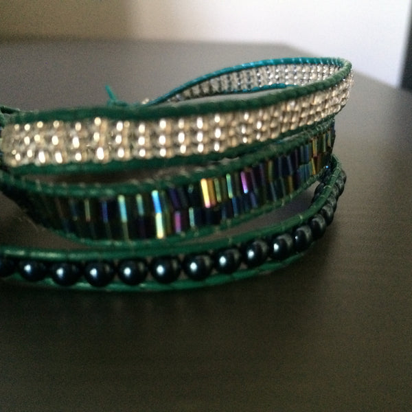 Leather Wrap Bracelet - Transitions - LittleGemsUSA - 6