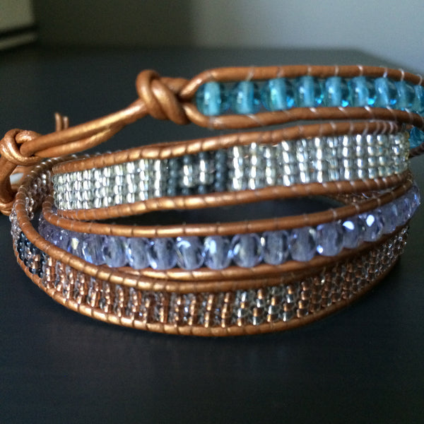 Leather Wrap Bracelet - Transitions - LittleGemsUSA - 5