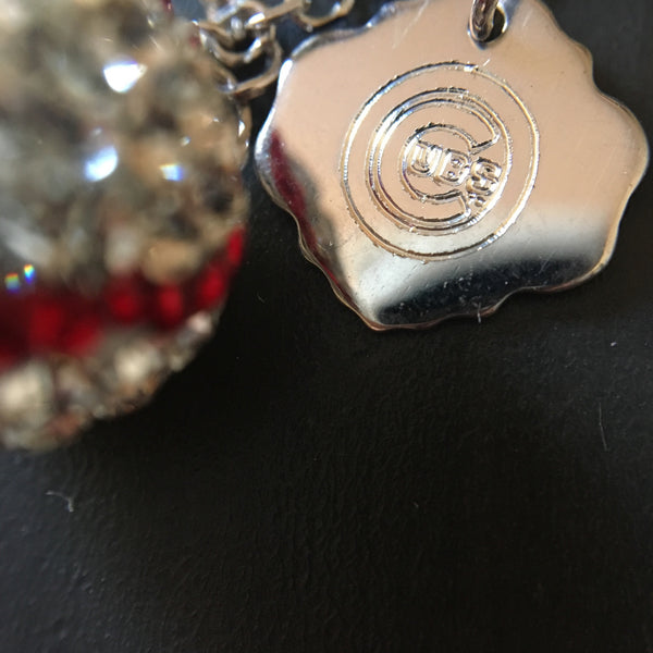 Cubs Crystal Logo Necklace