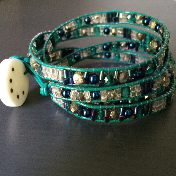 Leather Wrap Bracelet - Transitions - LittleGemsUSA - 4