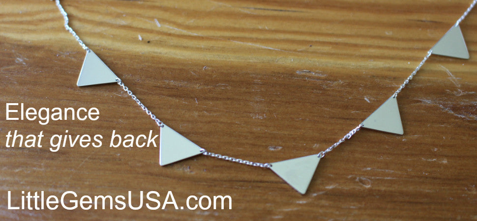 5 Triangle Connection Necklace
