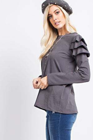 The Katherine with ruffle arms - Comfy and Chic Boutique